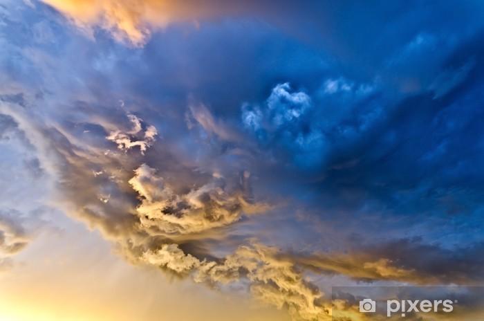 Vinyl Fotobehang Wolken bij zonsondergang - Thema's