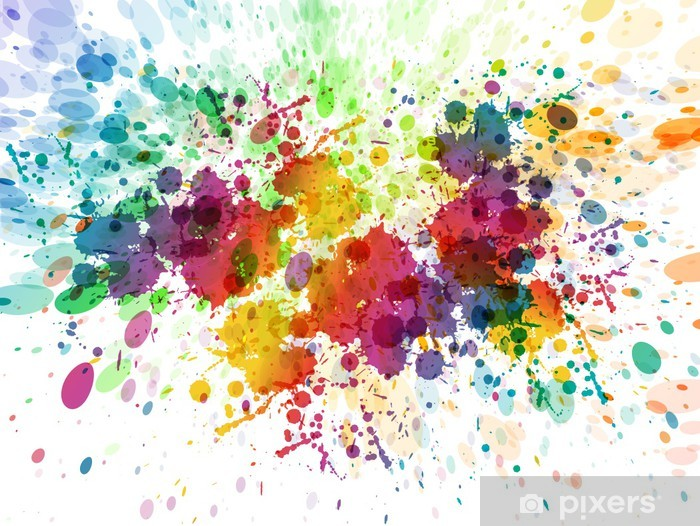 raster version of Abstract colorful splash background Vinyl Wall Mural - Hobbies and Leisure