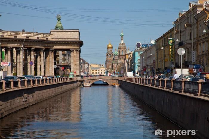 Papier peint vinyle Canal à l'église Rédempteur à Saint-Pétersbourg - Asie