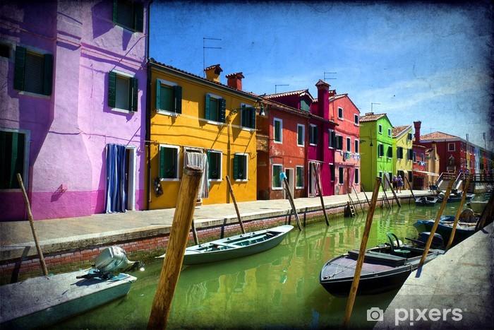 Island of Burano - Venice Vinyl Wall Mural - Themes