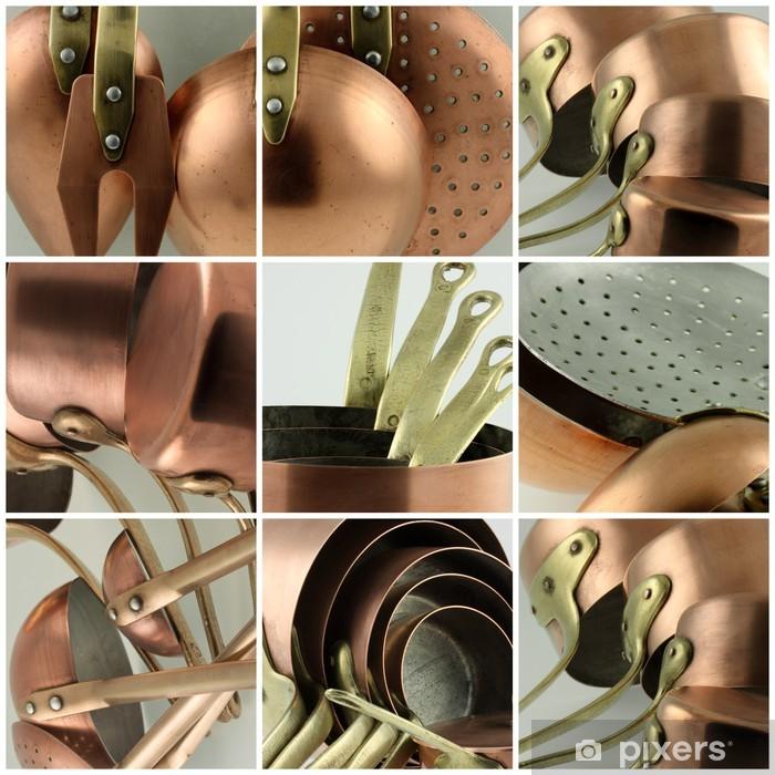 batterie de cuisine en cuivre Vinyl Wall Mural - Themes