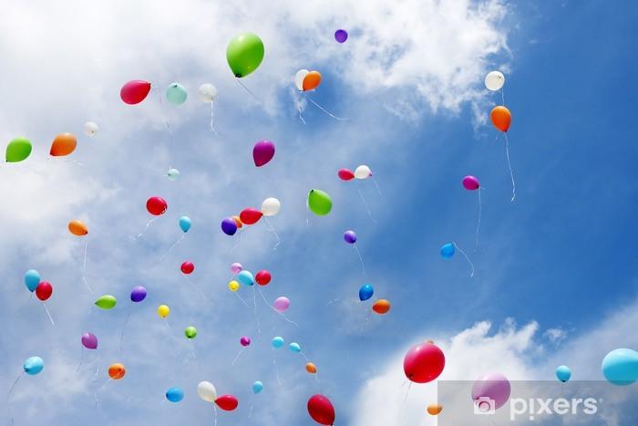 Vinilo Pixerstick Luftballons, globos de juguete - Felicidad
