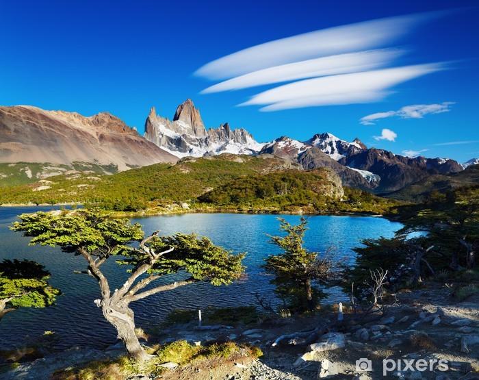 Pixerstick Aufkleber Mount Fitz Roy in Patagonien, Argentinien - Themen