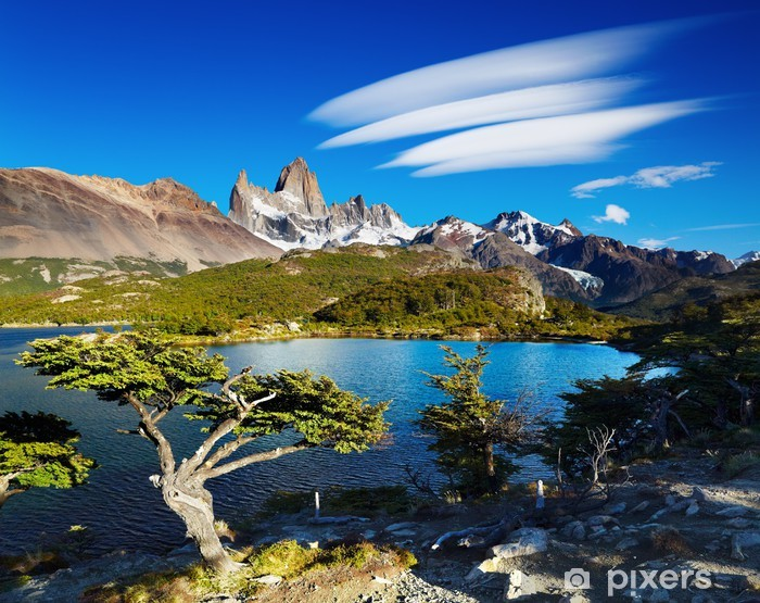 Vinilo Pixerstick Monte Fitz Roy, Patagonia, Argentina - Temas