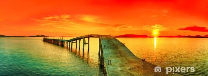 Fotomural Estándar Puesta de sol panorama - Temas