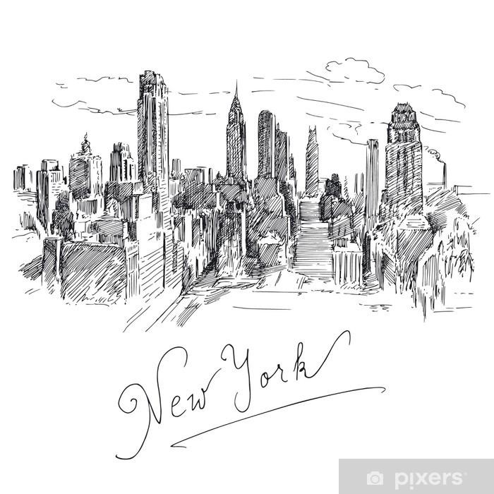 Papier peint vinyle New yorkais - Sticker mural