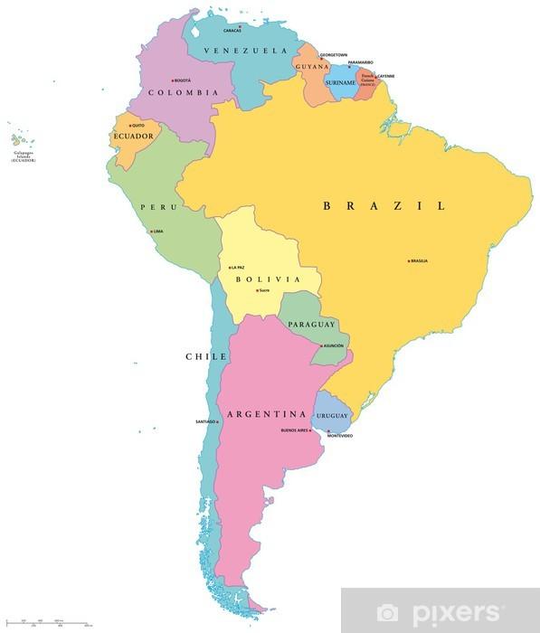 Etela Amerikka Yksittaiset Valtiot Sudamerika Einzelstaaten