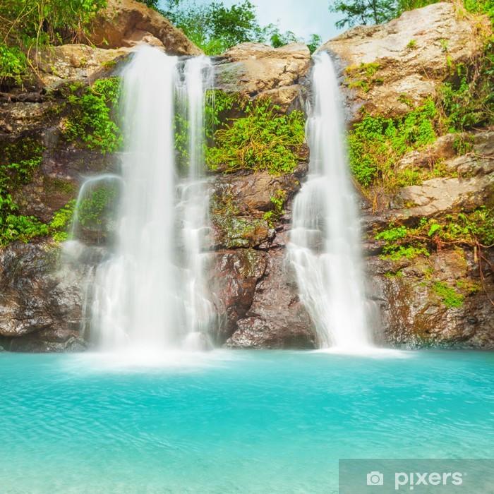 Beautiful waterfall Pixerstick Sticker - Destinations