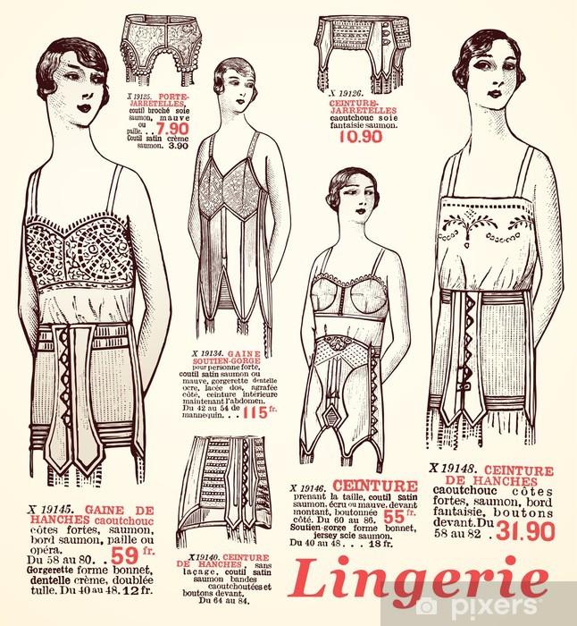 lingerie 1930 Vinyl Wall Mural - Textures
