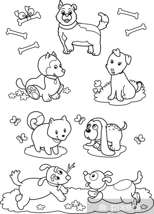 Sette Cani Carini Da Colorare Per Bambini Sticker Pixers We