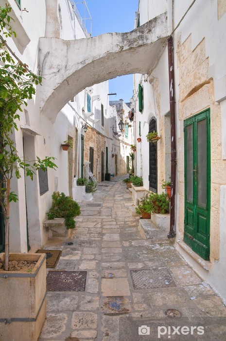 Alleyway. Ostuni. Puglia. Italy. Washable Wall Mural -