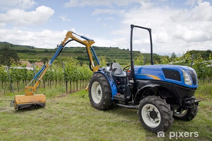 Nálepka Pixerstick Traktor na vinici - Zemědělství