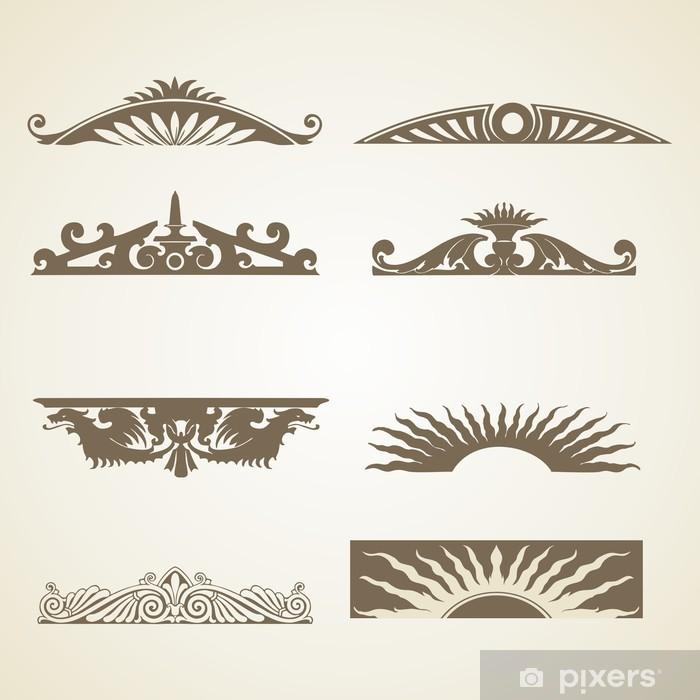 Fototapeta winylowa Ozdobne Vintage Header Decoration - Abstrakcja
