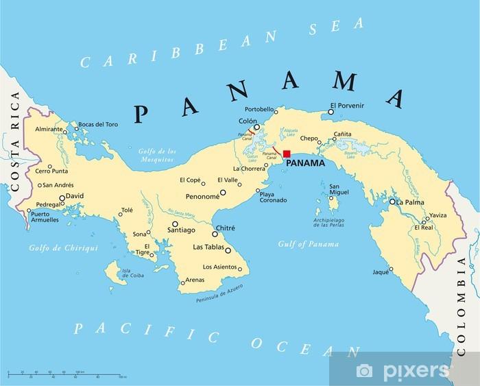Panama Map Panama Landkarte Wall Mural Pixers We Live To Change
