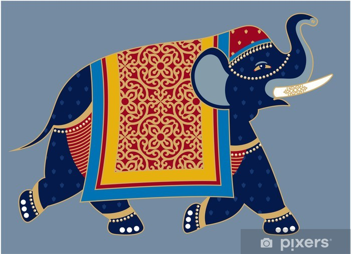 Indian Decorated Elephant Illustration Wall Mural Pixers We Live To Change Polish your personal project or design with these indian elephant transparent png images, make it even more personalized and more attractive. indian decorated elephant illustration wall mural pixers we live to change