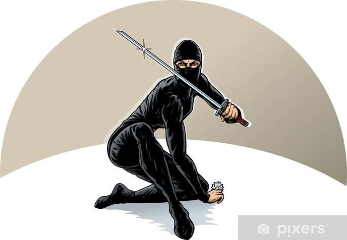 Ninja girl Pixerstick Sticker - Wall decals