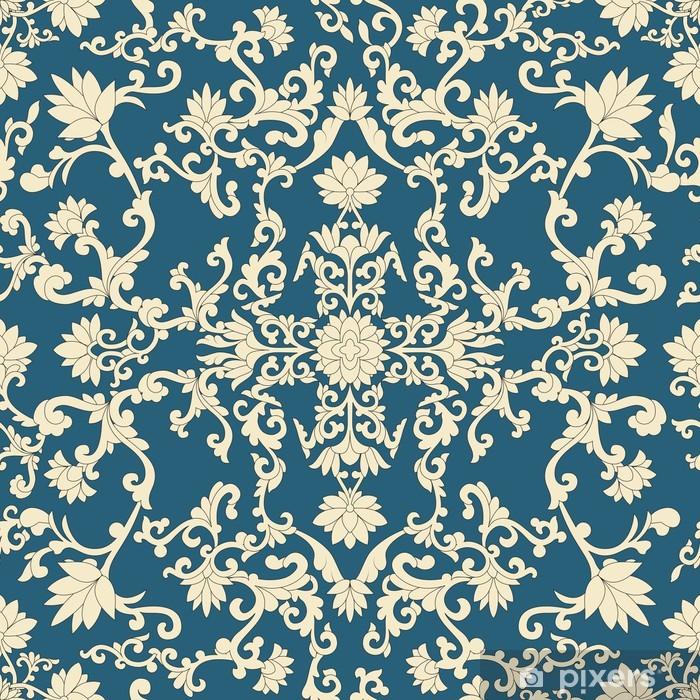 Retro Nahtlose Muster Orientalisch Schwarz 0