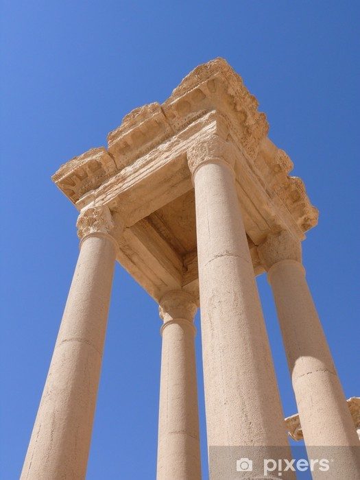 Fototapeta winylowa Starożytne kolumny bliska, ruin, Palmyra, Syria - Bliski Wschód