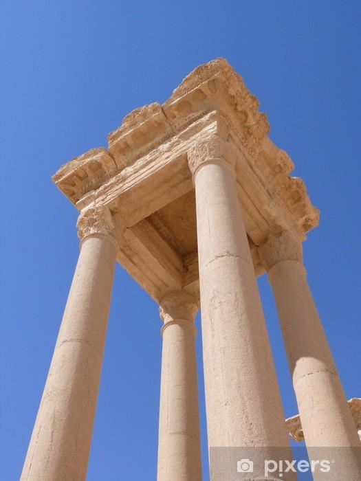 Naklejka Pixerstick Starożytne kolumny bliska, ruin, Palmyra, Syria - Bliski Wschód