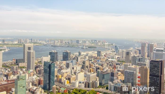 Sticker Pixerstick Vue de Tokyo Tour de Tokyo - Villes d'Asie