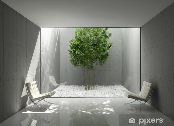 Carta Da Parati Fiori Minimal : Carta da parati bianco minimal design per la casa verde salone