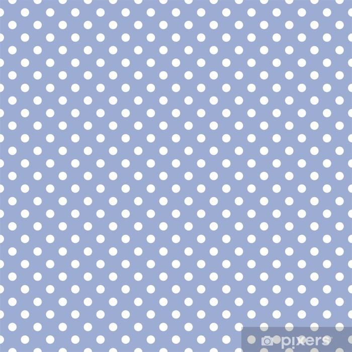 White dots on baby blue background retro seamless vector pattern Vinyl Wall Mural - Themes