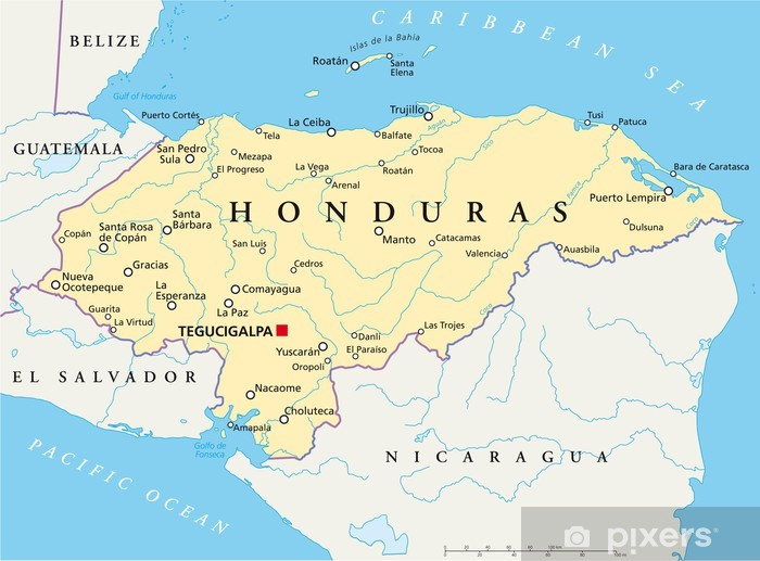 Honduras Map Honduras Landkarte Sticker Pixers We Live To