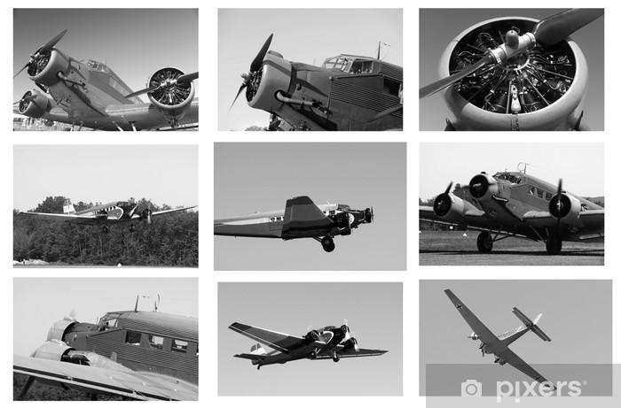 Sticker Pixerstick Montage Junkers Ju 52 - Dans les airs