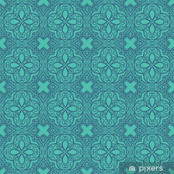 Naklejka Pixerstick Bez szwu tapety z kwiatu ozdoba - Tła