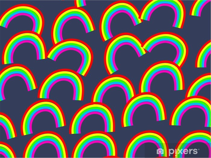 Rainbow Wallpaper Wall Mural Vinyl