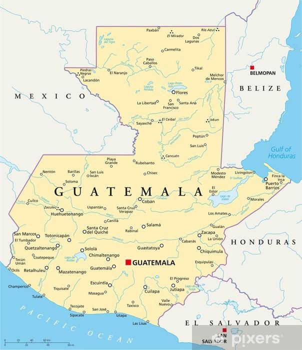 Guatemala Karte.Fototapete Guatemala Karte Guatemala Landkarte
