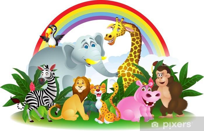 Papier peint vinyle Animal cartoon - Mammifères