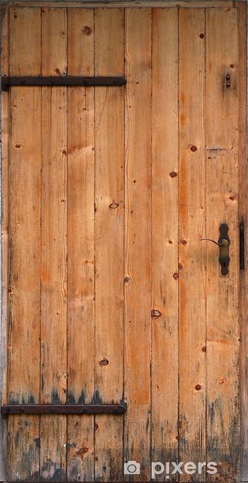 Naklejka Pixerstick Drewniane drzwi - Sklepy