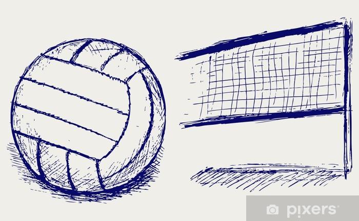 Vinilo Pixerstick Voleibol Sketch - Voleibol