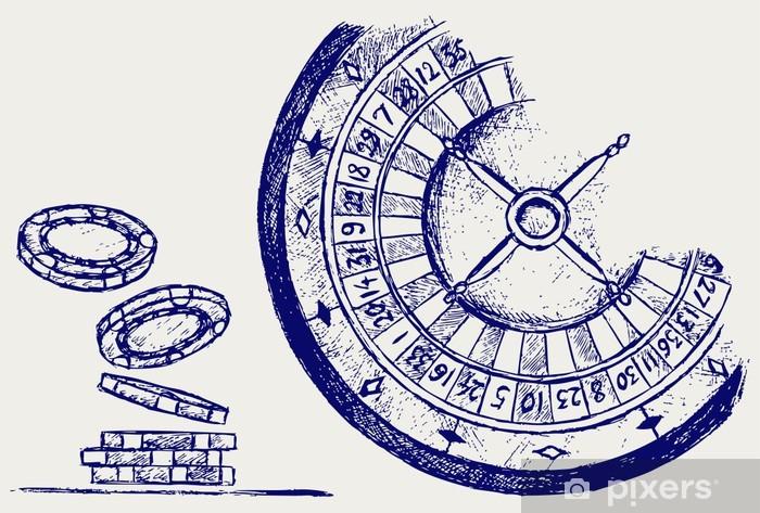 Papier peint vinyle Gambling. Sketch - Divertissements
