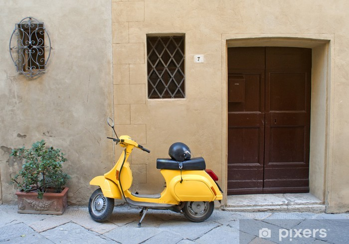 Pixerstick Aufkleber Italienisch gelben Roller - Europa