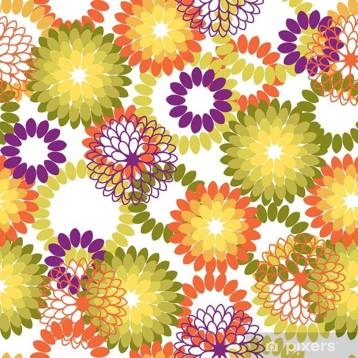 85e55083a2ebde Fototapeta winylowa Szwu z abstrakcyjne kwiaty. ilustracji wektorowych.