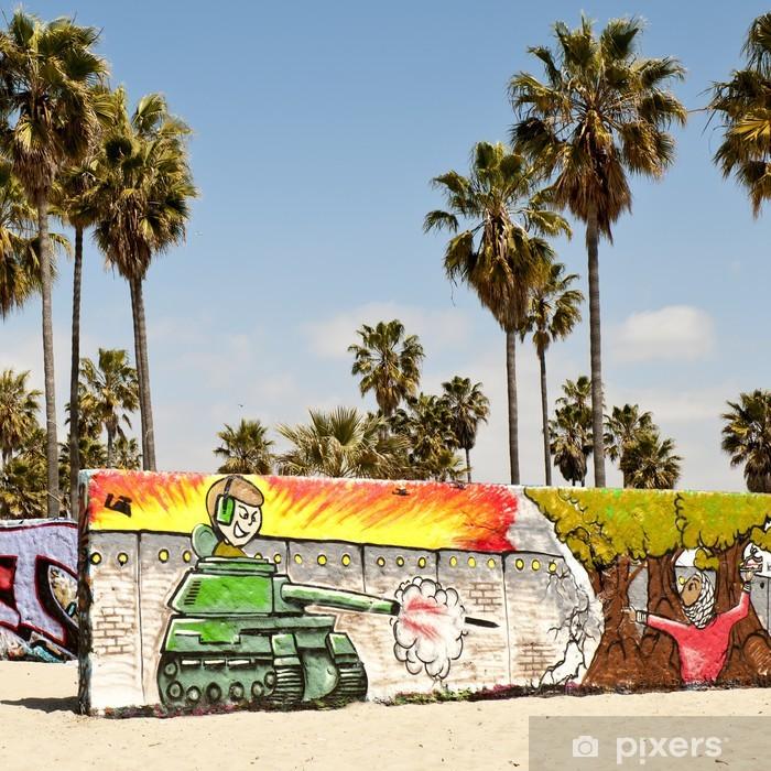 Vinilo Pixerstick Paredes Del Arte En La Playa De Venecia Los