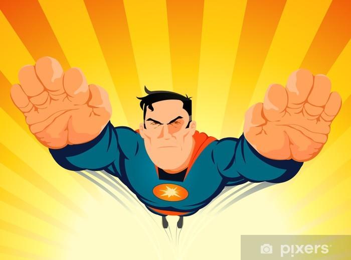 Papier peint vinyle Superhero Blasting Off - Sports individuels