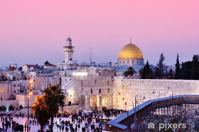 Pixerstick Dekor Västra muren och Klippdomen i Jerusalem, Israel - Teman