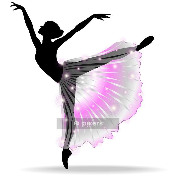 Naklejka na ścianę Ballerina Ballet Dancer Dance-Classic-Vector Sylwetka - Naklejki na ścianę