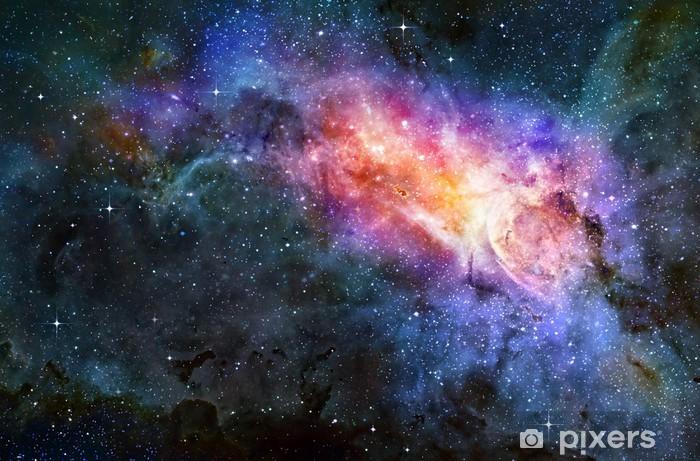 Naklejka Pixerstick Obłok gazu mgławica w głębokiej przestrzeni kosmicznej - Tematy