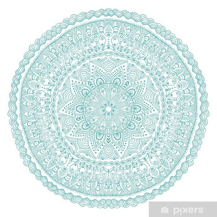 Naklejka Pixerstick Ozdobne koronki okrągły wzór, koło tle wielu detai - Naklejki na ścianę