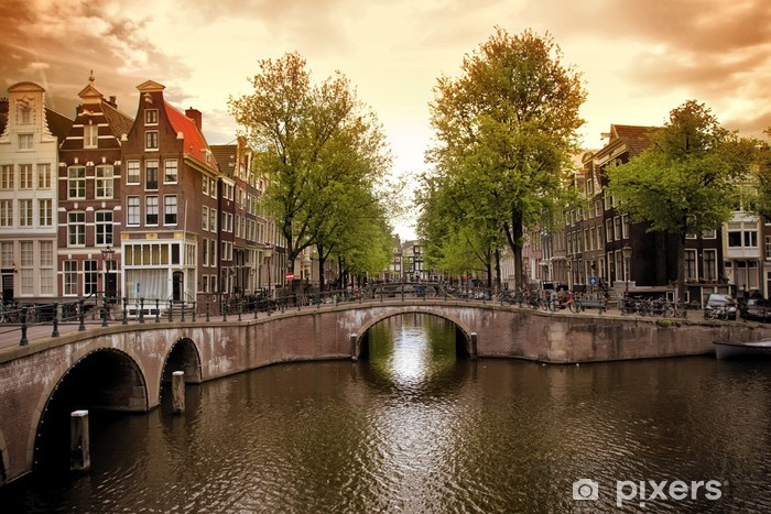 Amsterdam canals Vinyl Wall Mural - Themes