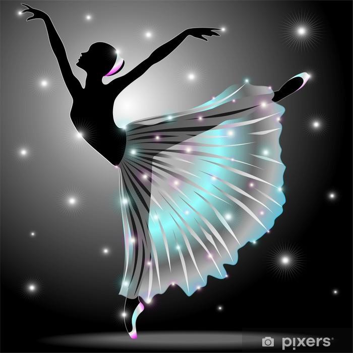 Ballerina Danza Classica-Classic Dance Star Dancer-Vector Self-Adhesive Wall Mural - Ballet