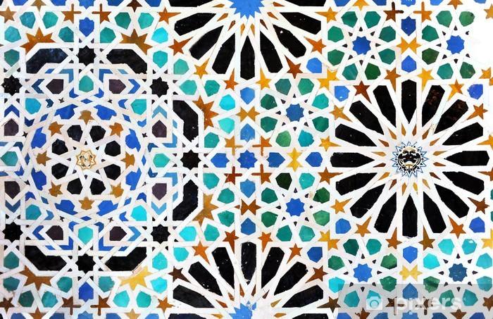 Carta da parati alicatados mosaici piastrelle alhambra di