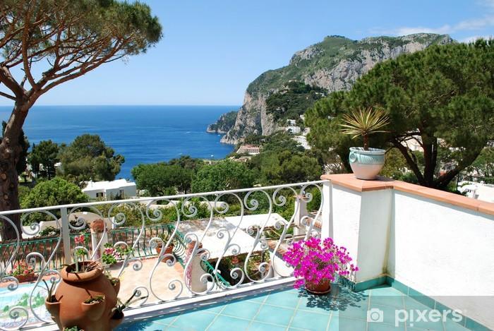Naklejka Pixerstick Capri, balkon z widokiem - Europa