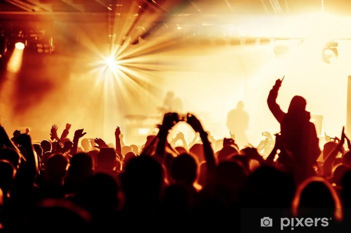 Vinyl Fotobehang Juichende menigte op het concert - Amusement