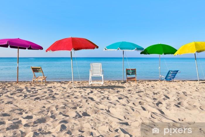 Papier peint vinyle Vacances colorées - Vacances