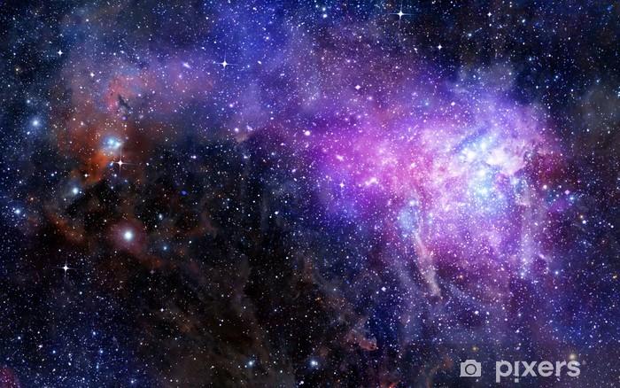 nebula gas cloud in deep outer space Pixerstick Sticker - Styles